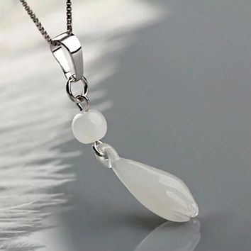 The Lastest Fashion  Magnolia silver plated Pendant Necklace For Women