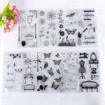 New 1Pc Baby Series Girl English Letter Pattern Transparent Rubber Stamp Seal DIY Album Craft Scrapbooking Decor#230821