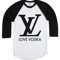 Love Vodka-Unisex White/Black T-Shirt