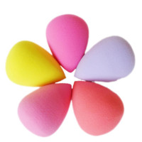 Hot 5Pcs Makeup Sponge Beauty Blender Smooth Shaped Water Droplets Puff Random Color