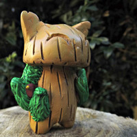 The Tree Cat  A Handmade Polymer Clay and Resin Figure (E)