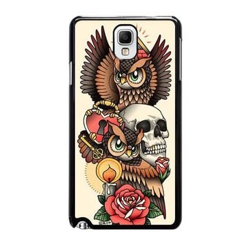 OWL STEAMPUNK ILLUMINATI TATTOO Samsung Galaxy Note 3 Case Cover