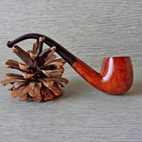 Vintage Wooden Pipe, Real Briar Pipe, Smoking Pipe, Old Wooden Pipe, Tobacco Pipe, Vintage Tobacco Smoking Pipe, Gift for Men