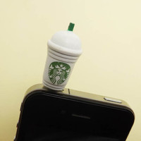 25OFF Cute Starbucks Milk Tea Cup Straw Dust Plug by Polaris798