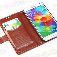Samsung galaxy s5 case wallet case wallet phone case PU leather case card holder case for Samsung galaxy s5
