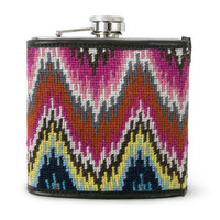 Jonathan Adler Multi Needlepoint Flask in New