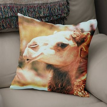 Sassy Camel Throw Pillow Cover- 5 Sizes