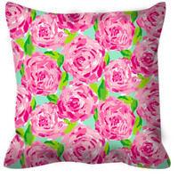 Lilly Pulitzer Inspired Non-Monogram Pillows