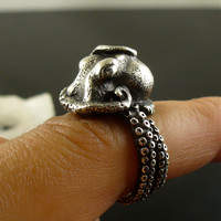 MOTHERS DAY SALE Sale - Kraken Octopus Ring OctopusMe Miyu Decay Collaboration