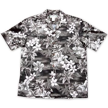 Diamond Head Grey Hawaiian Cotton Shirt