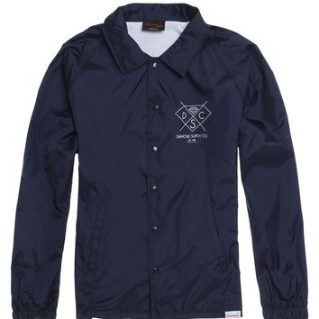 Diamond Supply Co Outline Cut Windbreaker Jacket - Mens Jacket - Blue