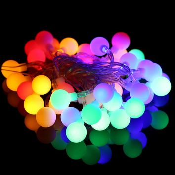 4M 40LED Ball String Lights AAA Battery Operated RGB/White/Warm White for Home Wedding Christmas Decoration