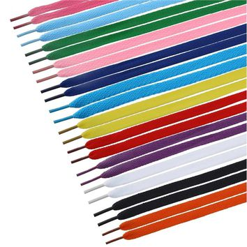 TINKSKY 12 Pairs of Flat Shoelaces Shoe Laces Strings for Sports Shoes / Boots / Sneakers / Skates