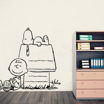 Charlie Brown & Snoopy Wall Decal