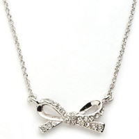 Kate Spade New York Pave Bow Necklace