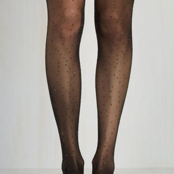 Film Noir A Glitter Bit Louder Now Tights