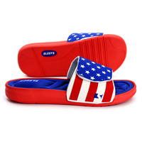 USA America Flag memory foam slides