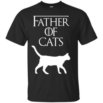 Mens Father of Cats - Fur Dad - Funny Cat Lover T-Shirt & Gift