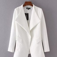 VONE05R Autumn Stylish Long Sleeve Blazer Casual Jacket [8542262791]