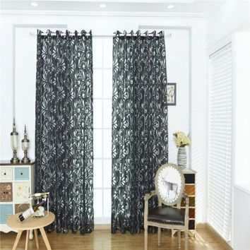 Phoenix tail bubble Window screening 100 * 200CM  Wear rods Polyester curtains for home decoration