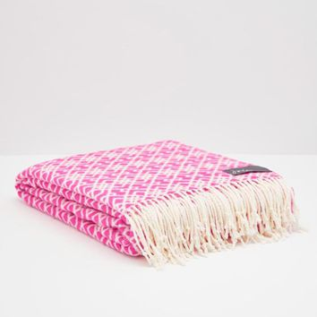 Marylebone Purple Geo Throw , Size One Size | Joules UK