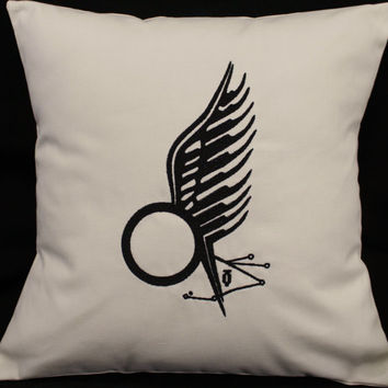 Battlestar Galactica Starbuck Tattoo inspired Embroidered Pillow Case Cover
