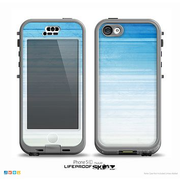 The Fading Light Blue Streaks Skin for the iPhone 5c nüüd LifeProof Case