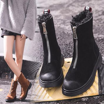 Tall Zippered Water Resistant Winter Boot