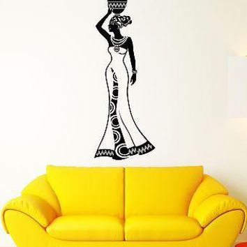 Wall Decal Girl India Africa Woman Tradition History Vinyl Stickers Unique Gift (ed126)