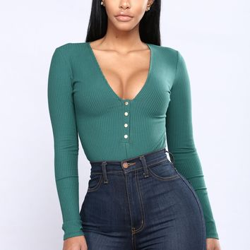 Carnaby Bodysuit - Hunter Green