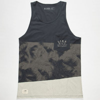 Lira Block Party Mens Tank Navy  In Sizes