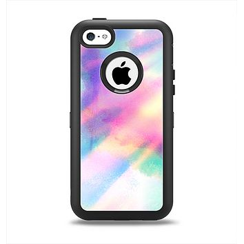 The Tie Dyed Bright Texture Apple iPhone 5c Otterbox Defender Case Skin Set