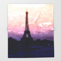Paris Throw Blanket by WhimsyRomance&Fun