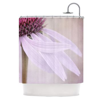 "Iris Lehnhardt ""Windswept"" Lavender Floral Shower Curtain - Outlet Item"
