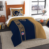 St. Louis Rams NFL Twin Comforter Set (Soft & Cozy) (64 x 86)