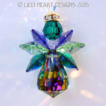 Suncatcher m/w Swarovski Crystal VERY RARE Vintage Body Guardian Angel of the Forest by Lilli Heart Designs
