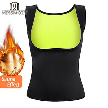 Miss Moly Women Neoprene Shapewear Push Up Vest Waist Trainer Cincher Slimming HOT Thermo Sauna Sweat Body Shaper TOP Corset US