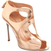 Sergio Rossi Metallic Cutout Sandal at Barneys.com