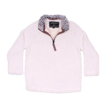 CHILD'S Frosty Tip 1/4 Zip Pullover in Ivory by True Grit - FINAL SALE