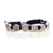St. Benedictine Blessing Bracelet Navy with Silver Metal