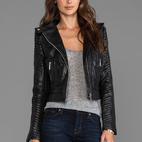 AB Leather Moto Jacket in Black from REVOLVEclothing.com