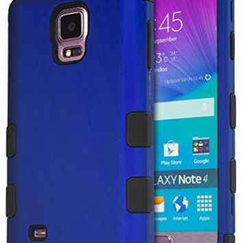 Galaxy Note 4 Case,    Hybrid Protective Case -  Black Sil