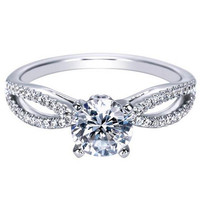 "Ben Garelick Royal Celebration ""Elyse"" Split Shank Diamond Engagement Ring"