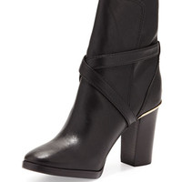 Tory Burch Livingston Leather Ankle Boot, Black