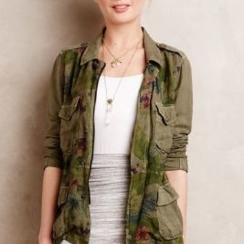 Camoflora Anorak by Sanctuary Green Motif