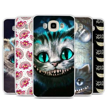 Alice in Wonderland Cheshire Cute Cat Phone Case Cover for Samsung Galaxy J1 J2 J3 J5 J7 C5 C7 C9 E5 E7 2016 2017