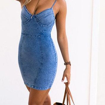 Juno Casual Denim Dress