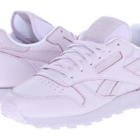 Reebok Lifestyle Classic Leather Spirit Desert Stone/White/Energy - Zappos.com Free Shipping BOTH Ways