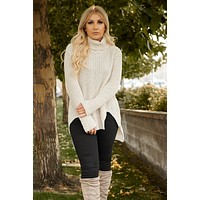 When Snow Falls Knitted POL Sweater (Beige)