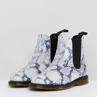 Dr Martens Kensington Chelsea Boots in Faux Snake Print at asos.com